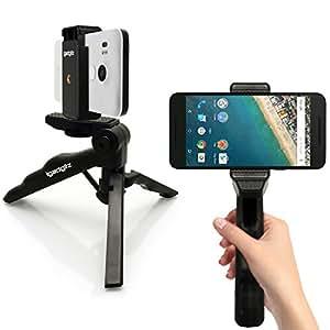 """igadgitz 2 en 1 Pistola Mano Estabilizador & Mini Ligera Trípode de Mesa con Smartphone Soporte Adaptador para Apple iPhone 6 6S 4.7"""" 5 5S 4HD 4S"""