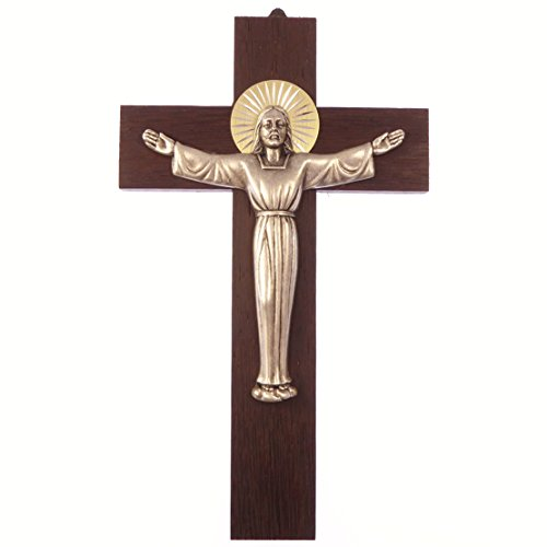 Wood wall hanging risen christ cross 8