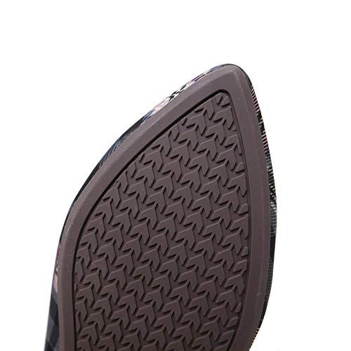 Punta de con Zapatillas Mujer Afeitar de de Zapatillas Plana Negro AGOWOO anfIUqxwq