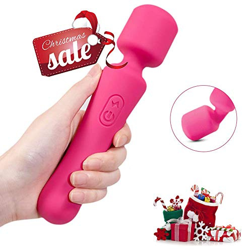 Wireless Wand Massager,10 Powerful Speeds Rechargeable Waterproof Back Massager with Powerful Vibration for Body Therapeutic, Muscle Aches and Sports Recovery (Wand)