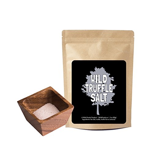 White Truffle Salt, All Natural Mediterranean Sea Salt With Italian White Alba Truffles (Fine) - 3 ounce by Wild Foods