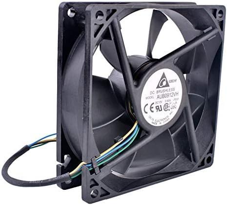 Original Delta AUB0912VH 9025 90mm fan 12V 0.60A Computer CPU cooler 4-wire 4pin PWM fan
