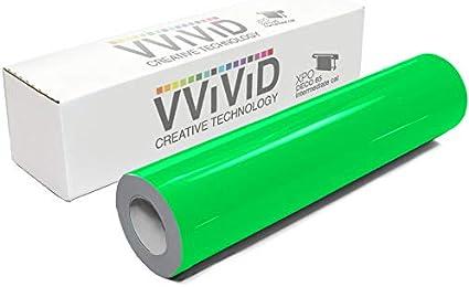 6 Inch x 60 Inch VViViD Hi-Liter Fluorescent Green Gloss Vinyl Wrap