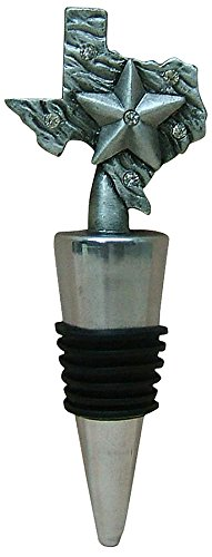 Fei Gifts PTC4341 Texas WIne Stopper, 3.5, Pewter (Texas Wine Stopper)