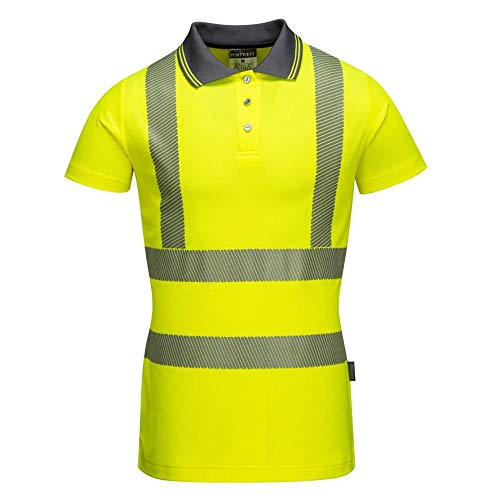 Portwest LW72YERL Hi-Vis - Polo para mujer, talla L, color ...