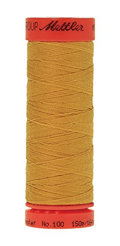 0% Core Spun Polyester Thread, 165 yd, Star Gold (Gold Polyester Thread)