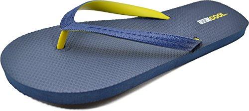 32 Gradi Cool Mens Impermeabile Spiaggia Flip Flop Navy / Giallo X-large