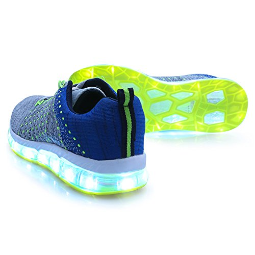 Cool Flashing LED Light up Shoes for Women Men USB Rechargeable Fashion Sneaker Gray 055 dST4uG3I43