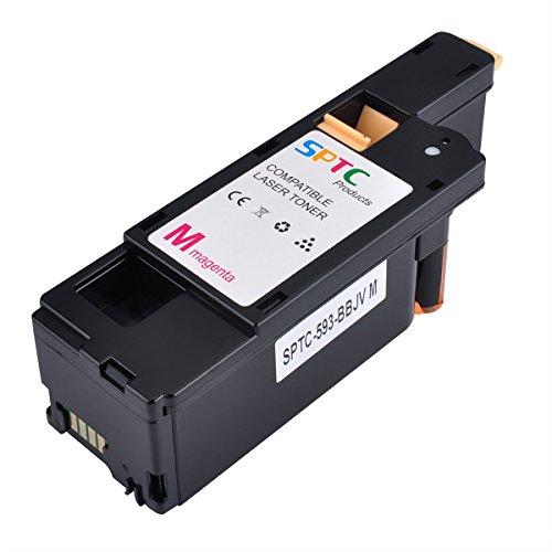1400 Pages SPTC High Yield Compatible Dell E525W E525 525 Toner Cartridge for Dell Color Multi Function E525W Printers 1 Pack 593-BBJV Magenta