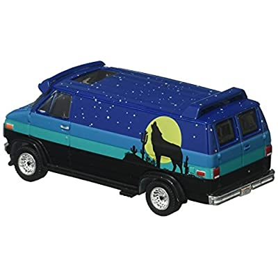 Greenlight 1:64 The Hobby Shop Series 3 1981 GMC Vandura Custom Diecast Vehicle with Backpacker: Toys & Games
