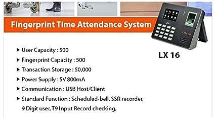 ESSL Identix LX-16 Time and Attendance Biometric: Amazon in