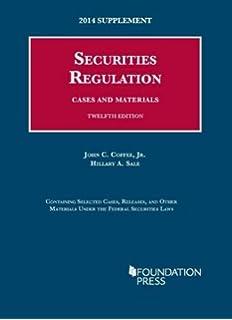 securites regulation Securities Regulation, 12th (University Casebook) (University ...