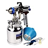33 oz Siphon Feed Spray Gun - 2.0mm Nozzle for Spraying Oil-Based or Latex Paints, with Filtering and Cleaning Kits