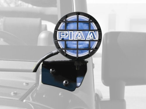 PIAA 5400 540 Series Xtreme White Plus Driving Vehicle Specific Kit with Windshield Brackets for Jeep Wrangler TJ