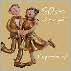 Wedding Present For 50 Year Old : 50th Wedding Anniversary Card: Amazon.co.uk: Office Products