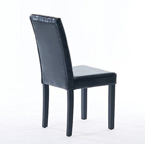 Comfortable Live New Modern Style Dining Chair in Home and Garden with Leather Set of 2(black) by Comfortable live (Image #4)