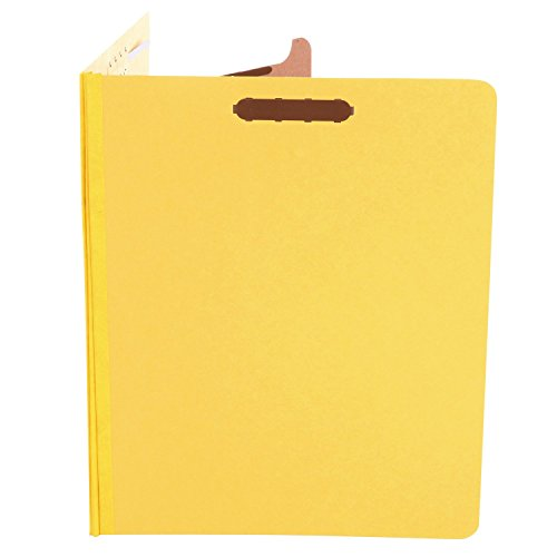 Universal Pressboard Classification Folders, Letter, Four-Section, Yellow, 10/Box (10204)