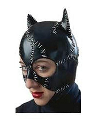 (Rubie's Women's Batman DC Style Guide Catwoman Mask, Black, One)
