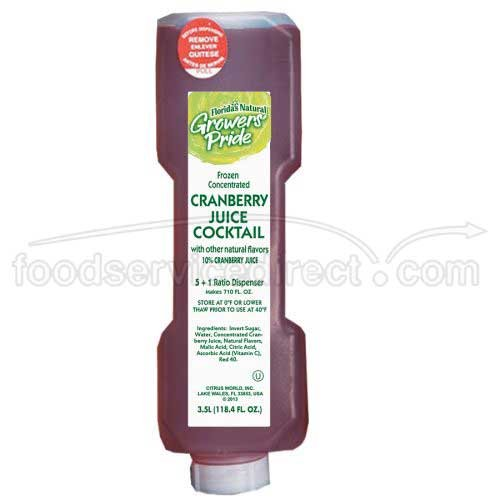 Floridas Natural Growers Pride Cranberry Cocktail Juice, 3.5 Liter -- 3 per case. by Florida's Natural