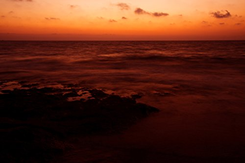 Home Comforts LAMINATED POSTER Orange Sea Sunset Landscape Poster Print 24 x 36 by Home Comforts