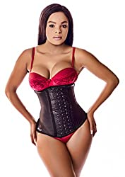 Ann Darling Long Torso Latex Sport Waist Trainer Hourglass Corset For Weight Loss Black X-large