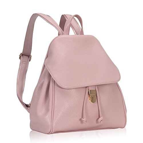Hynes Victory Refined Women Flap Backpack Lotus Pink