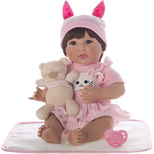 Bebê Reborn Laura Baby Antonela Shiny Toys Morena