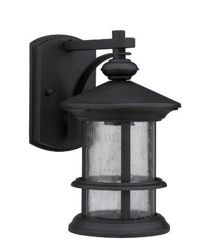Chloe Lighting CH0152-BLK-OSD1 Transitional 1-Light Outdoor Wall Sconce, 10.13 x 6 x 7.5