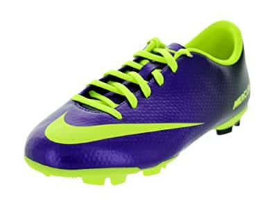 New Nike JR Mercurial Victory IV FG Purple/Volt Boys 3