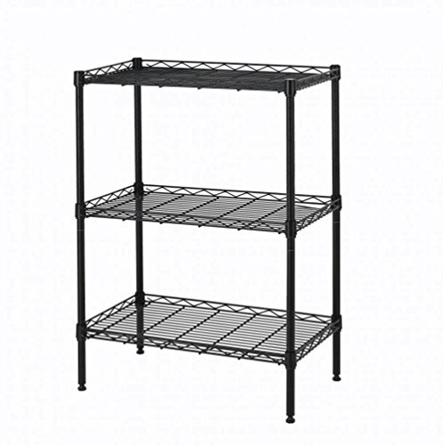 New premium quality industrial-strength steel wires Shelving Cart Unit 3 Shelves Shelf Rack Black Finish #442 (Box Fireplace Wood Plans)