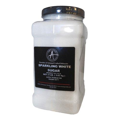 Sparkling White Sanding Sugar - 8 Lb
