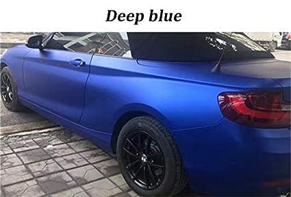 Matte Blue Car >> Amazon Com Beesclover Classic Deep Blue Matte Chrome Vinyl