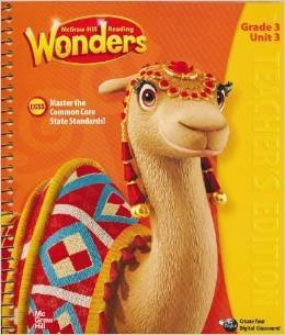McGraw-Hill Reading Wonders, Teacher's Edition, Grade 3, Unit 3: OneOf a Kind, CCSS, 9780021186679, 0021186677, 2014