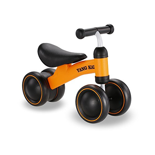 Linxtech Toddler Trike Mini Balance Bike No-Pedal Tricycle for 12 Months+ Toddler Learn Walking and Riding (Orange)