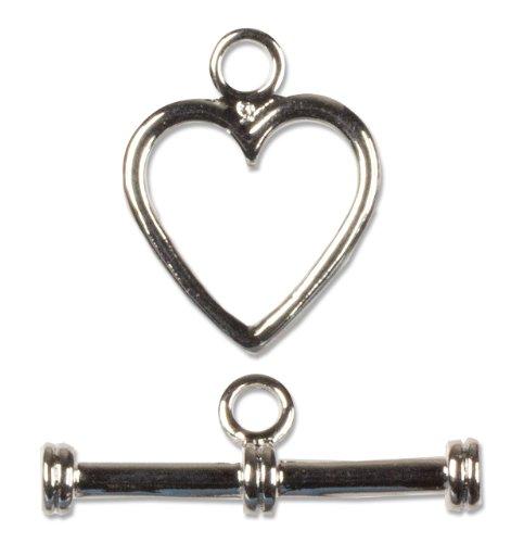 e Small Heart Toggle, 1-Set (Heart Toggle 1 Piece)