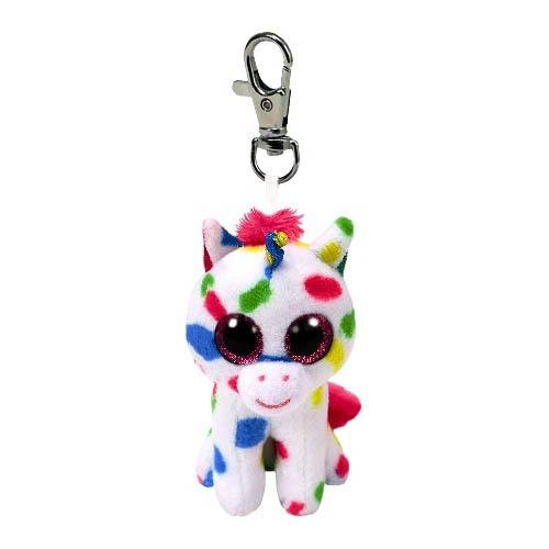 Ty Ty Beanie HARMONIE - Speckled Unicorn Clip Key Chain Plush