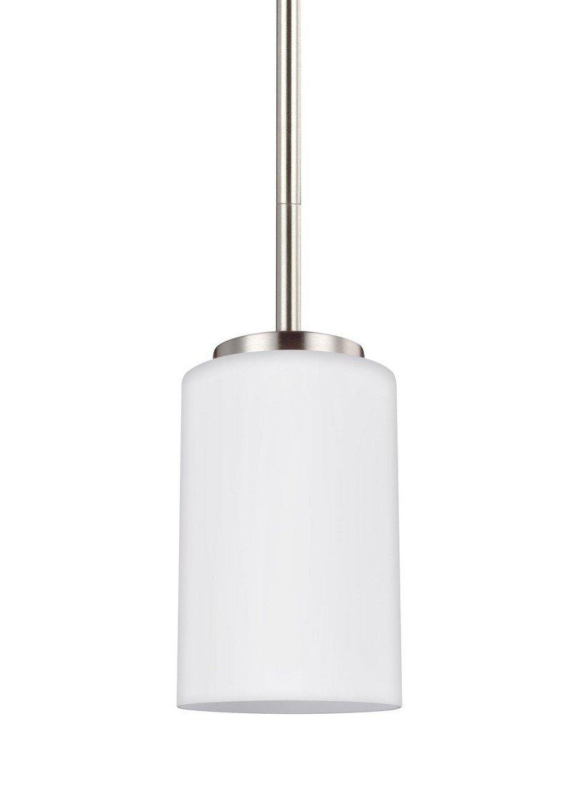 Sea Gull Lighting 61160-962 Oslo Pendant, One-Light, Brushed Nickel Finish