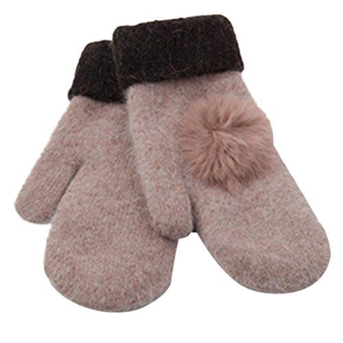 Women's Warm Winter Gloves Mittens Rose Gold - 1