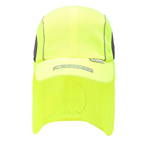 Hat Protech - A-safty AYKRM Surblue Quick-Drying Outdoor Cap High Performance Hat with Neck Shade Yellow