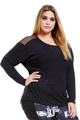 Women's Plus Size Katasana Dolman Active Long Sleeve Tee Shirt
