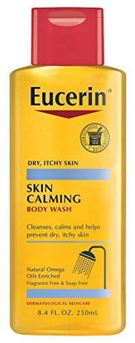 Eucerin Bath - Eucerin Skin Calming Dry Skin Body Wash Oil Fragrance Free, 8.4 Ounce (Pack of 3) Packaging may vary