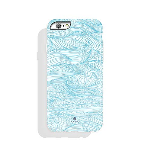Silicone Wave (Akna iPhone 6/6s case for girls, Get-It-Now Collection High Impact Flexible Silicon Case for both iPhone 6 & iPhone 6s [Blue Wave](215-U.S))