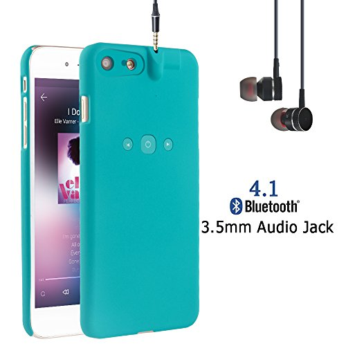 i.VALUX Smart Protective Case for iPhone 7 (Not for iPhone 7 Plus) Bluetooth Phone Case with Bluetooth Built-in 3.5mm Earphone Jack Cover Chargeable iPhone Case (Green)