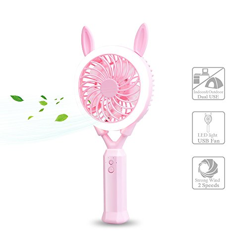 Portable Fan With Led Light