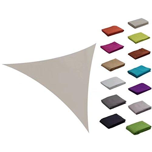 e.share 10ft10ft10ft khaki Sun Shade Sail Uv Top Quality Outdoor Canopy With (Khaki Shade)