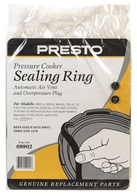 (Presto Pressure Cooker Sealing Ring with Air Vent and Over Pressure Plug (09902) )