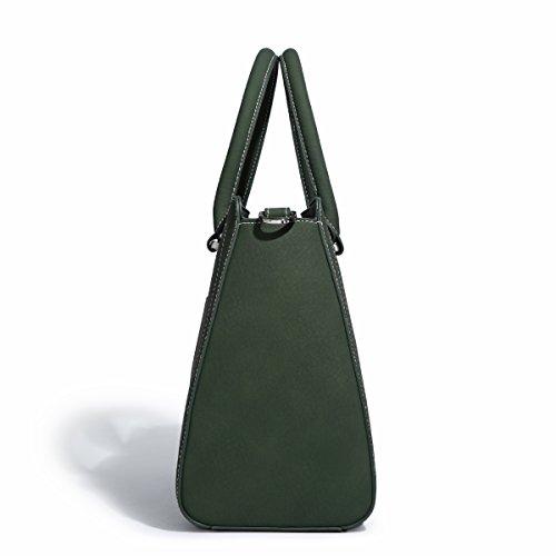 suave del de Ejercito la mujeres del vendimia Bolso las Verde Bolso Gris hombro cuero totalizador Kadell 1 oscuro PCq5tZx5