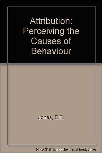 amazon attribution perceiving the causes of behavior e jones