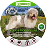 Dog Flea Treatment Collar - LorddDon⭐⭐⭐⭐⭐ Flea and Tick Prevention Collar One Size Fits All Dogs and Cats Flea and Tick Control with Adjustable Design