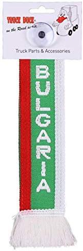 Amazon.es: TRUCK DUCK® Camiones Auto Mini - Bulgaria Bulgaria Mini - Banderín Bandera ventosa Espejo Decoración